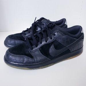 Nike 6.0 Dunk Low SB Black Croc Print 11 *RARE*